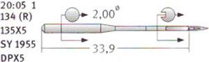 20:05 134R Schmetz Needles