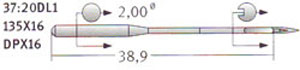 37:20 135x16 Schmetz Needles