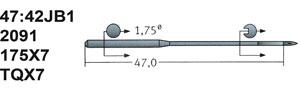 47:42JB 175x7 Schmetz Needles