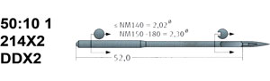 50:10 214X2 Schmetz Needles