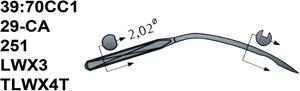 39:70CC1 251 Schmetz Needles