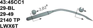 43:45CC1 29BL Schmetz Needles