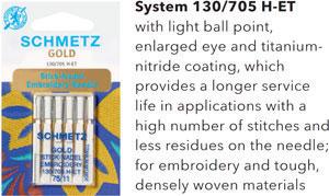 Schmetz Gold or Titanium Needles