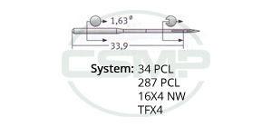 34 PCL Groz Beckert Needles