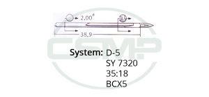 D-5 Groz Beckert Needles
