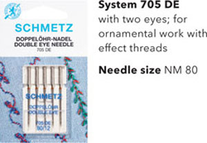 Schmetz Double Eye Needles