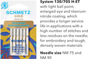 Schmetz Gold or Titanium Needles
