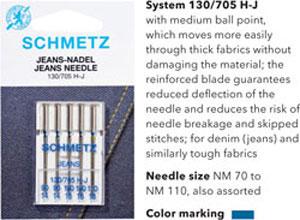 Schmetz Jeans or Denim Needles