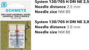 Schmetz Triple Needles